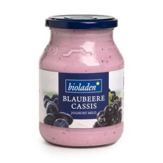 Blaubeere - Cassis Joghurt 3,8% im Glas